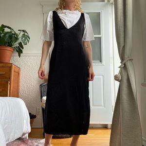 Zara midi tee shirt dress with black apron